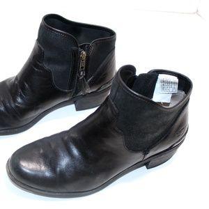 UGG Australia Leather Zip Ankle Boots Chelsea Sz 8